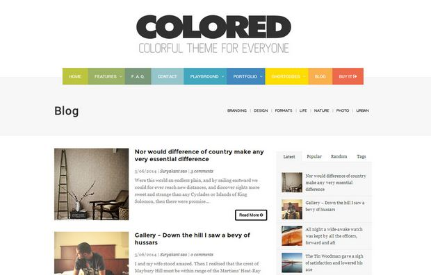 Colored Blogger template