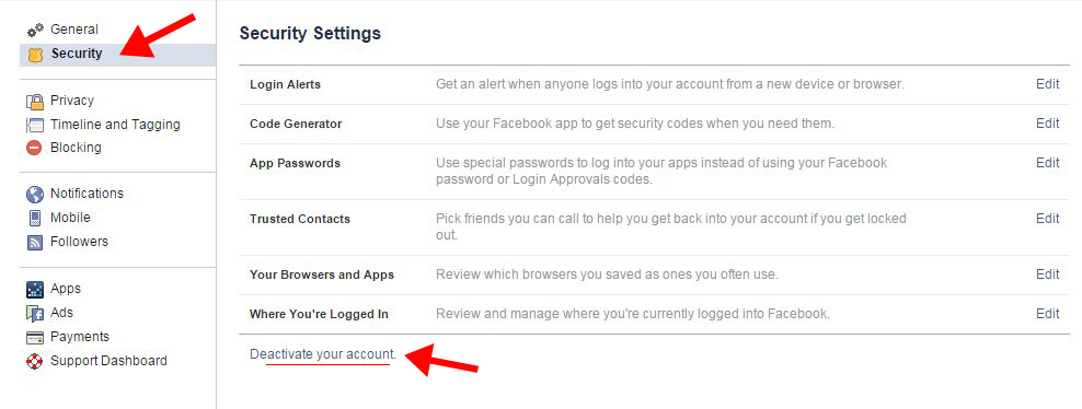 How to delete facebook account permanently deactivate facebook account ccuart Image collections