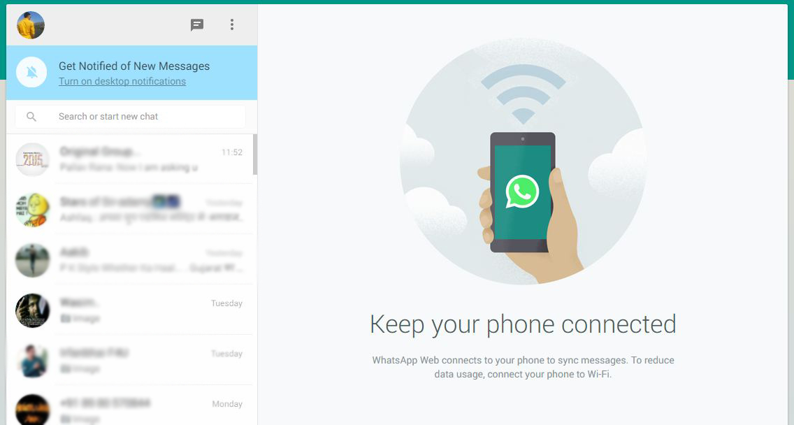 whatsapp on google chrome browser