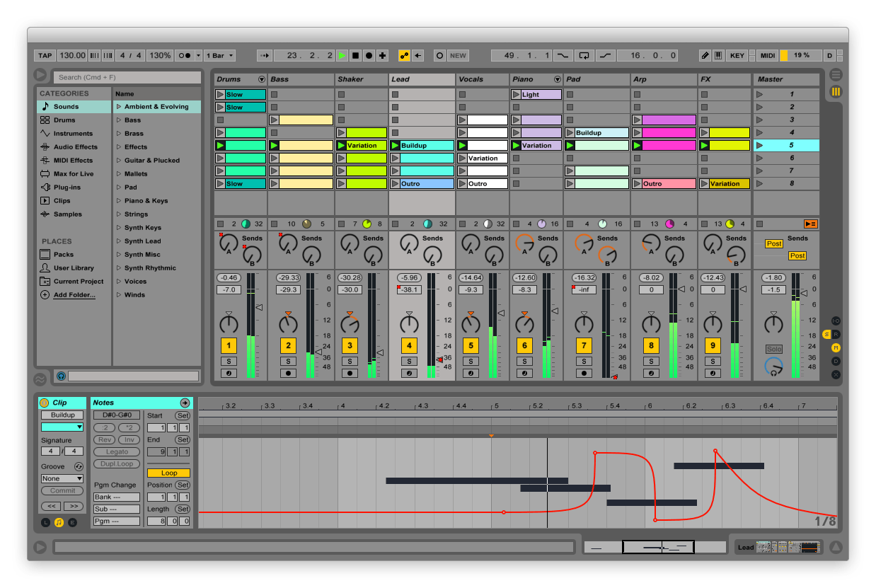 Ableton live-session