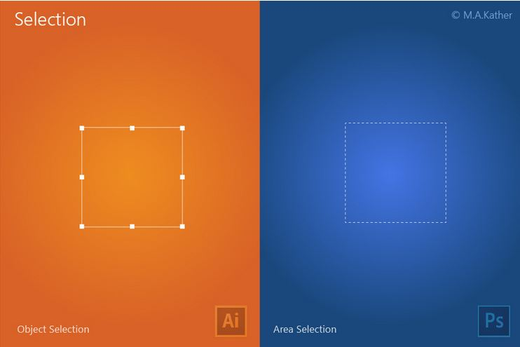 illustrator vs photoshop selection