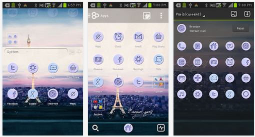 paris android theme for go launcher