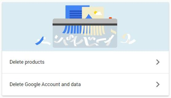 delete google products