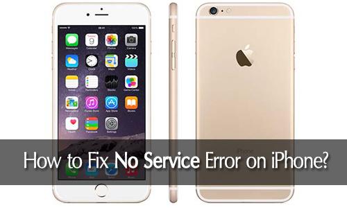 fix no service on iphone error