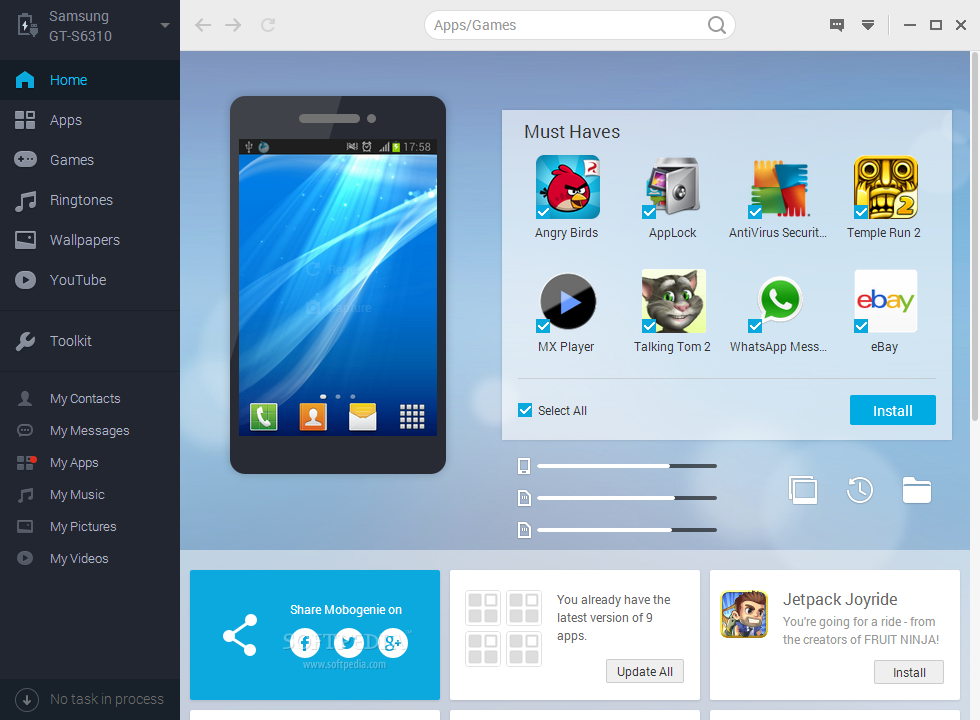 Mobogenie Pc suite for window linux and mac