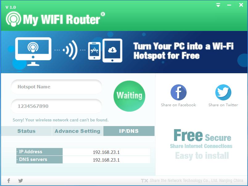 Turn pc into wifi hotspot