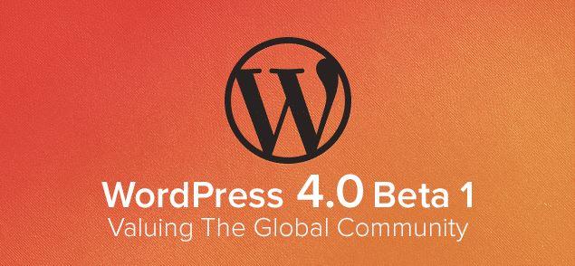 wordpress 4 beta 1 download