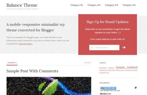 Balance theme for Blogger