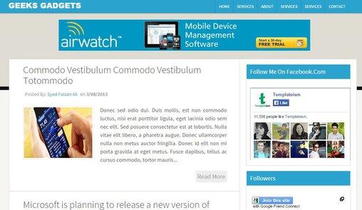 Geeks Gadget Blogger template