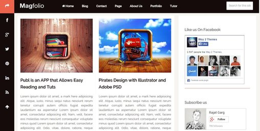Magfolio Blogger Responsive template