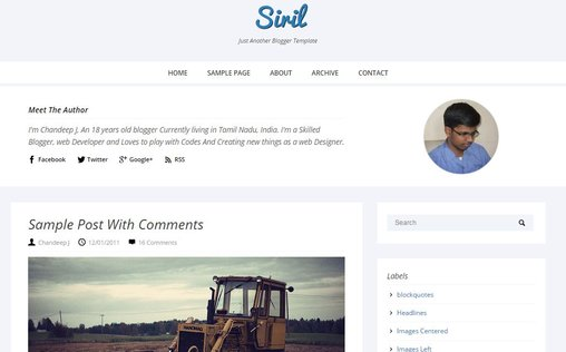 Siril Responsive Blogger theme