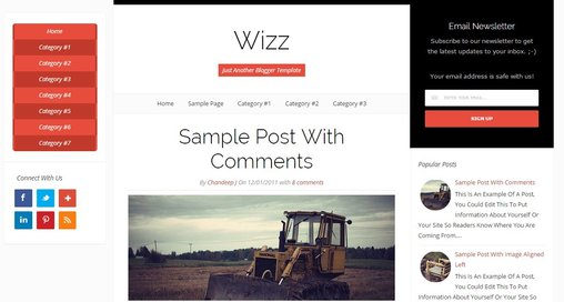 Wizz responsive template