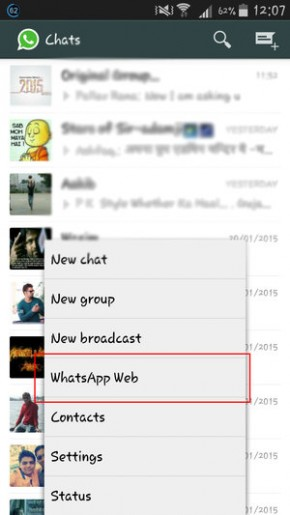 whatsapp messenger on google chrome