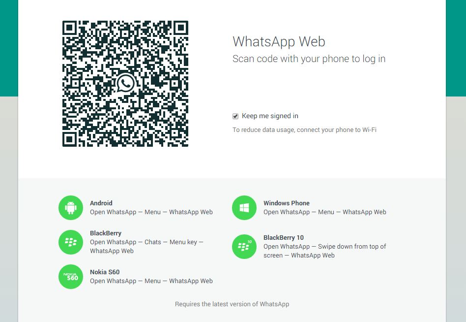 whatsapp on google chrome