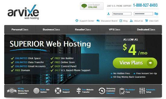 arvixe web hosting