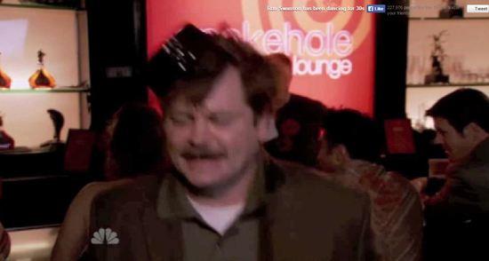 drunk ron swanson