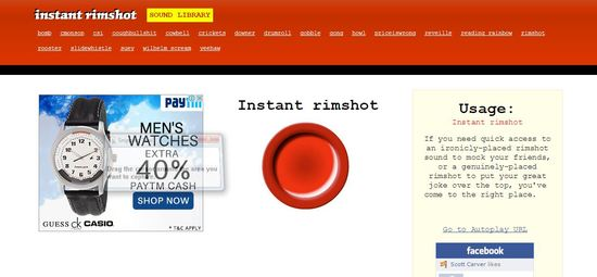 instant rimshot cool websites