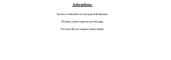 last page of the internet