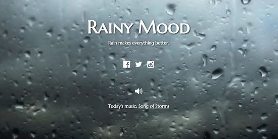 rainy mood cool useless websites
