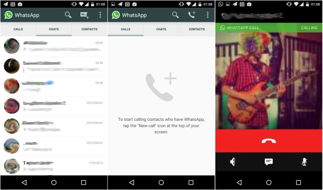 whatsapp voice calling