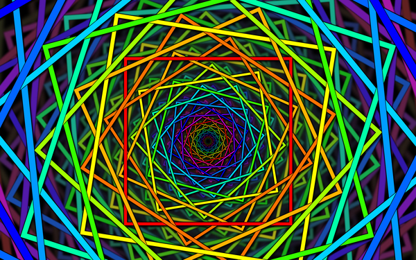 abstract colorful trippy lines