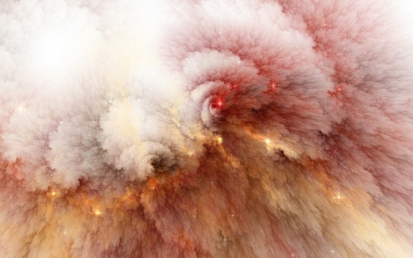 cloud explosion trippy wallpaper