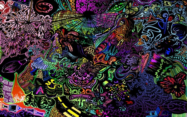digital trippy colorful art