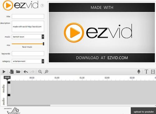 ezvid screen recording tool