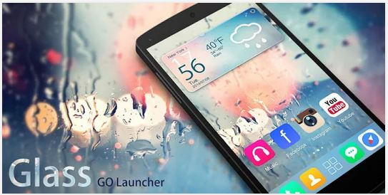 glass go launcher ex theme