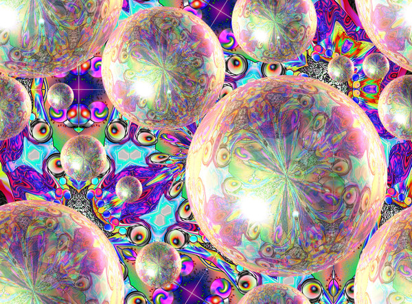 psychedelic bubbles background
