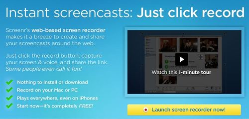 screenr web recording tool