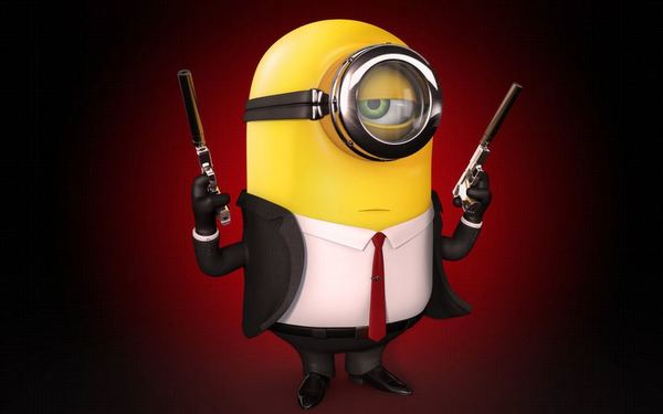agent 47 minion hitman wallpaper