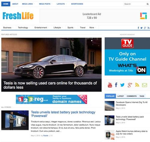 freshlife wordpress theme