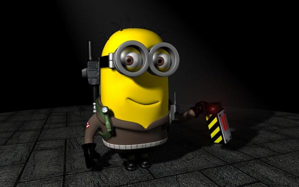 ghostbuster minion fan art