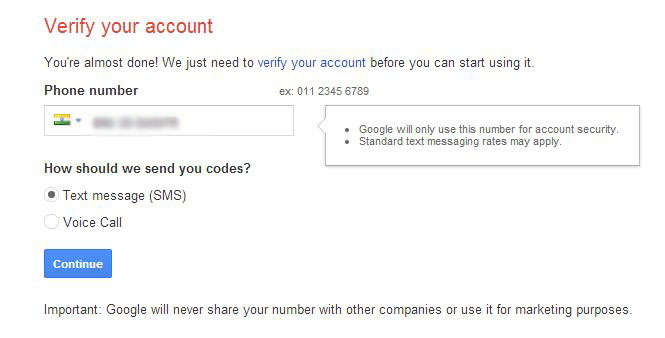 gmail login signup verify