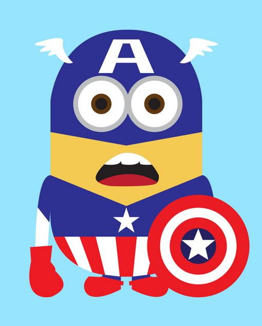 minion captain america wallpaper
