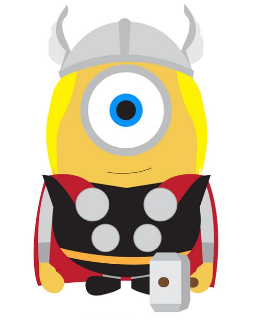 minion thor wallpaper