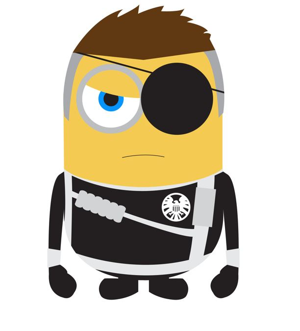 minions nick fury avengers wallpaper
