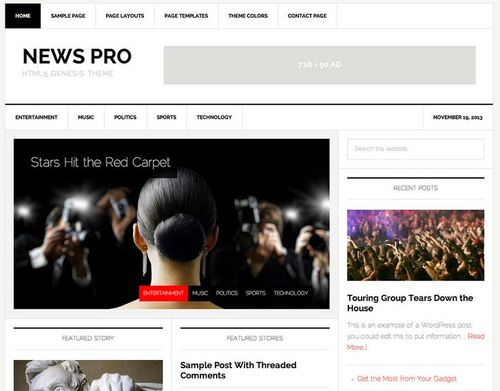 news pro adsense ready wp theme