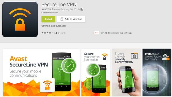 secureline vpn app avast