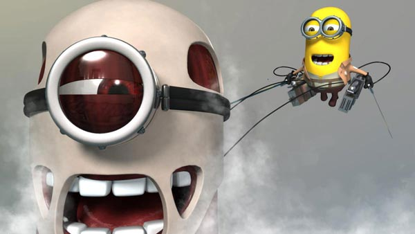 shingeki no minion attack on titan background