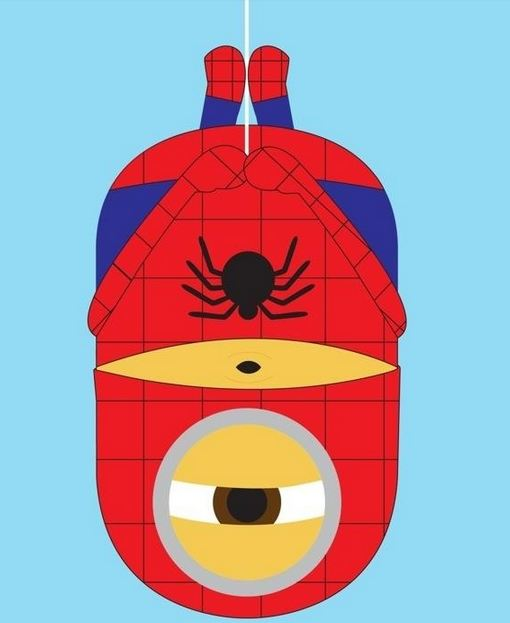 spiderman minions fan art