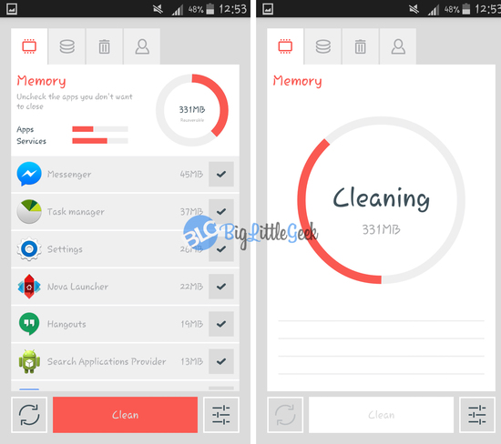 the cleaner app memory