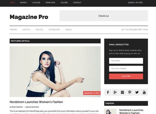 magazine pro child theme