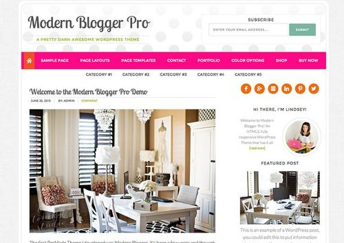 modern blogger pro theme