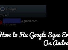 fix google sync error on android