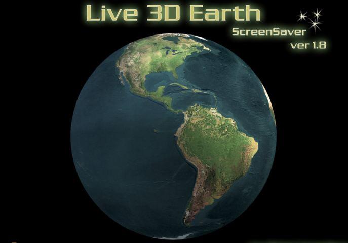 live 3d earth screensaver