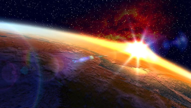 orbital sunset screensaver