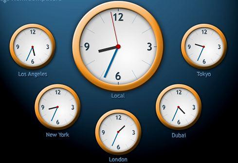 world clock screensaver