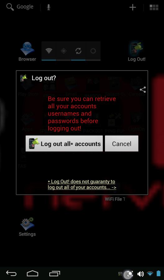 Logout-app-gmail